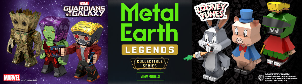 Metal Earth Legends Banner