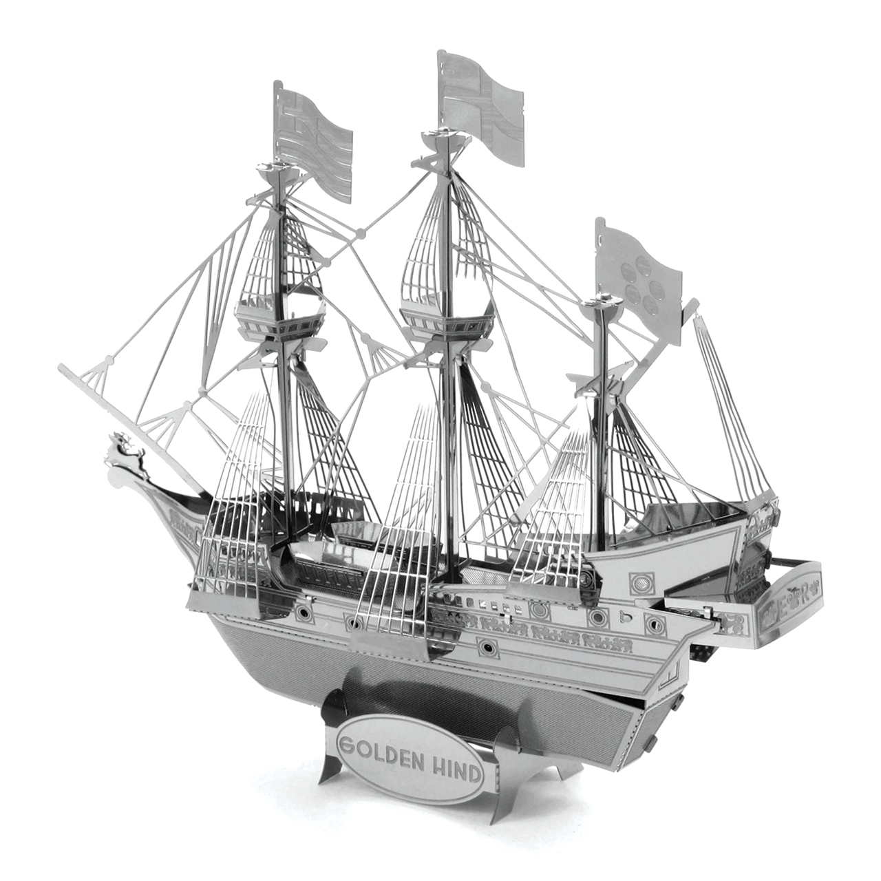 Golden Hind Galleon Ship Metal Earth 3D Metal Model DIY GOLDEN Edition 2 Sheets