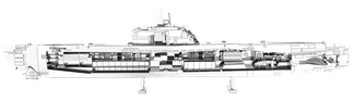 Picture of German U-boat Type XXI